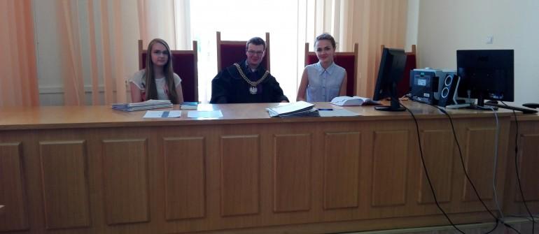 Zajęcia dydaktyczne z wiedzy o społeczeństwie w Sądzie Rejonowym w Krośnie