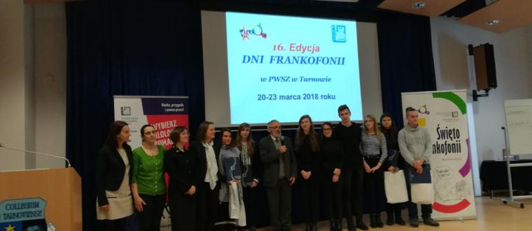 Dni Frankofonii w Państwowej Wyższej Szkole Zawodowej w Tarnowie.